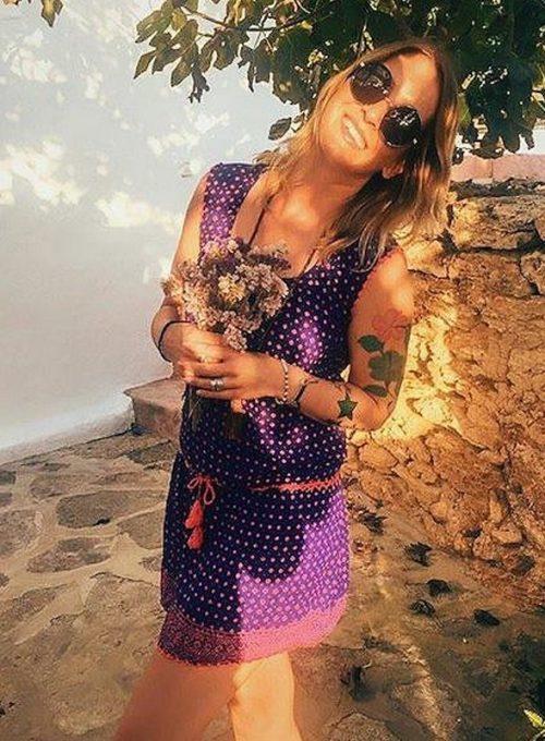 Das ibiza Sommerkleid im Boho Style mit roter Häkelspitze ab 59,-