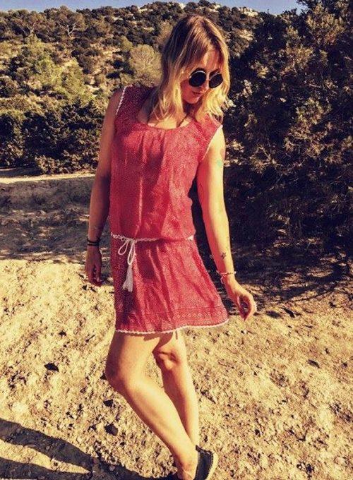Das ibiza Sommerkleid im Boho Style mit weißer Häkelspitze ab 59,-