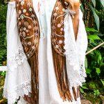 Hippie Moon weißes Bohokleid – Lola Dress