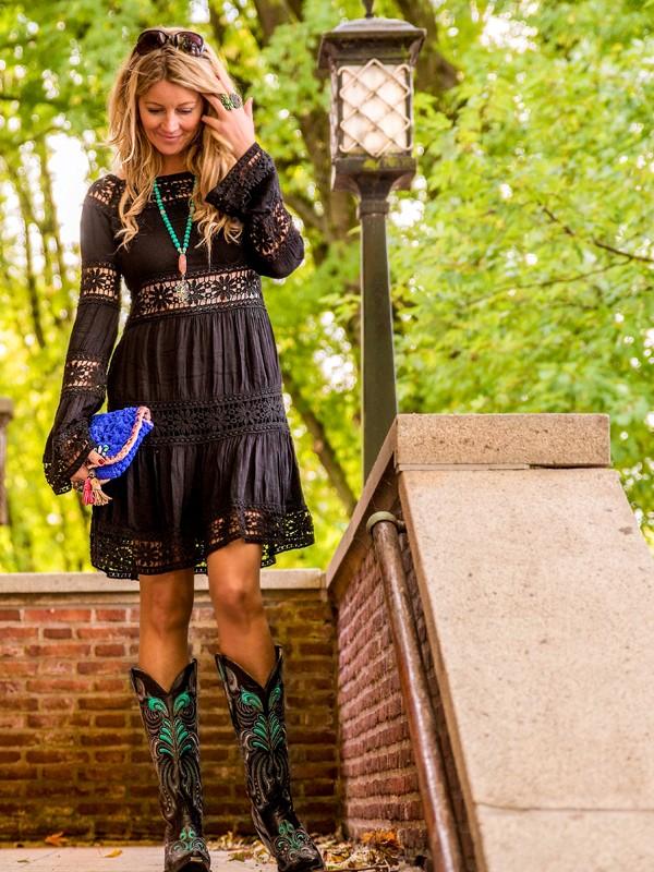 Little Black Dress meets Bohochic - ein schwarzes Boho Midikleid zum verlieben ab 65,-