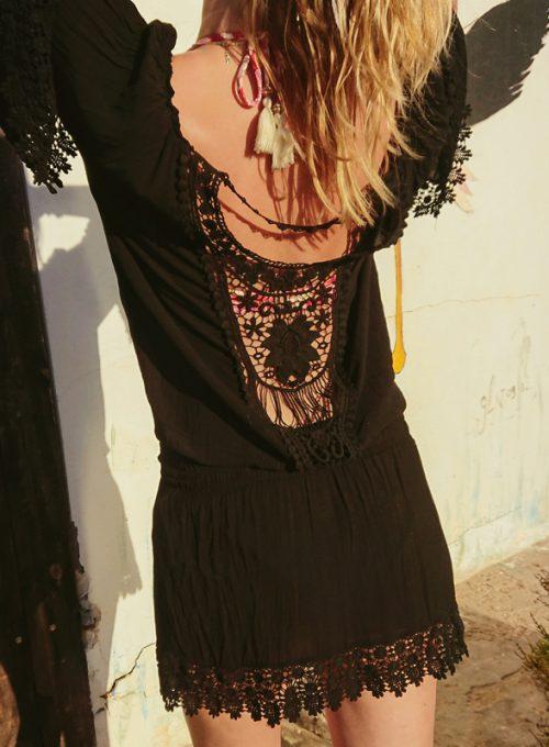 Dein schwarzes Ibiza Boho Kleid, der Eyecatcher im lässigen Bohochic ab 59,-