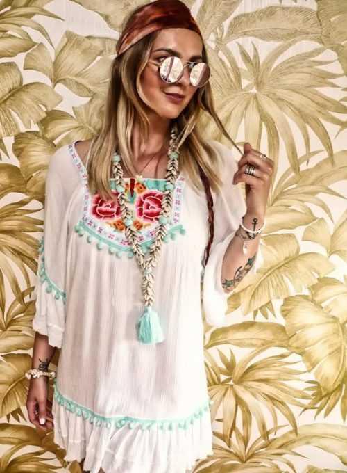 Ibiza Bohokleid - der luftige Sommertraum aus Crepestoff ab 99,-