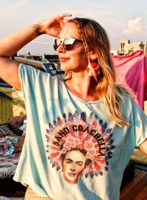 Frida Boho Shirt - Oversize Cut im Stonewashed Festival Style ab 48,-