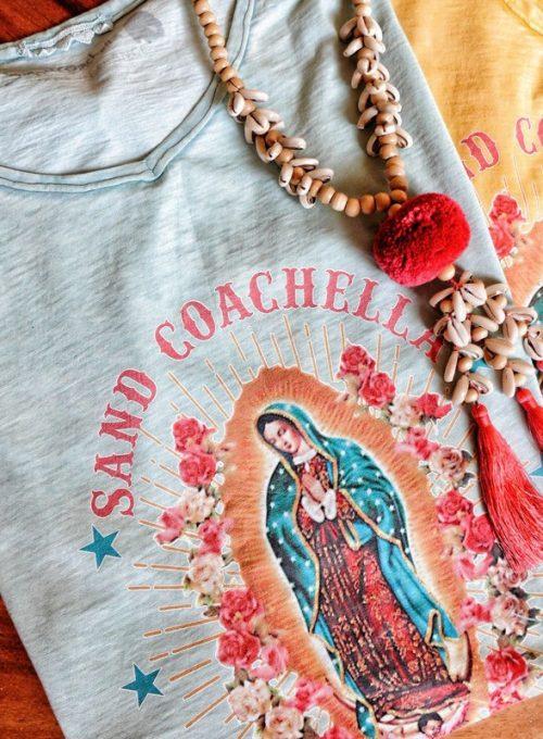 Madonna Boho Shirt - Oversize Cut im Stonewashed Festival Style ab 48,-