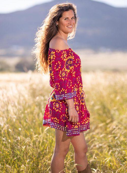 Hippie Minikleid Joya im Bohemian Ibiza Ethno Stil für 79,-