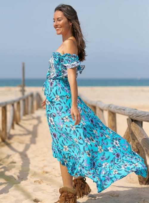 Schulterfreies Kleid Mina - dein neues Lieblingssommerkleidchen für 79,-