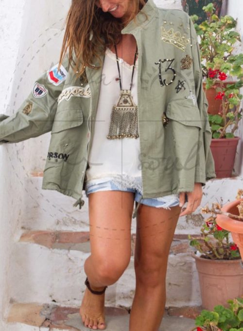 Vintage Parka Sandro - locker, leicht mit Hippiedetails für 78 ,-