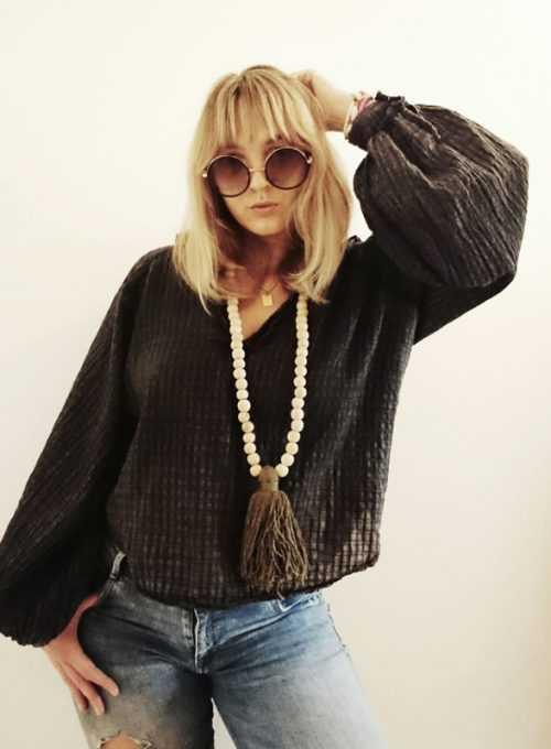 Patti Boho Bluse - Rockstarchic meets Vintage Hippie Flair für 49,-