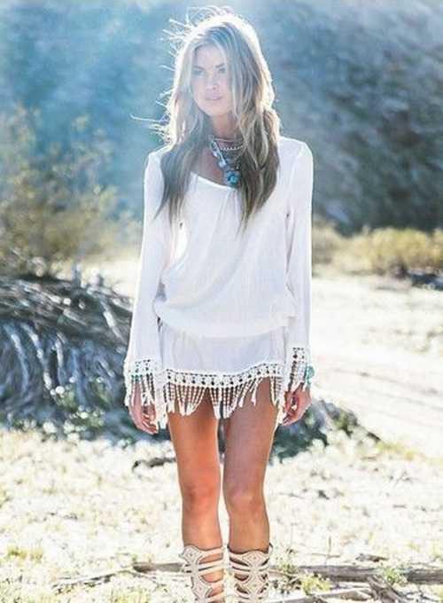 Ibiza Boho Tunika Shelly - Dein Hippie It-Piece für Strand und Bar für 29,-