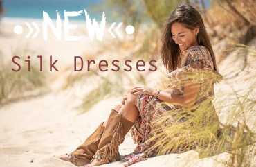 Silk Dresses/ Seidenkleider Neu bei Hippie Moon