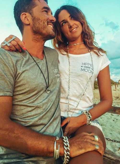 Hippie Moon Print Tshirt mit Brandlogo im Boholook in 2 Farben ab 35,-